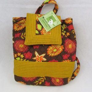 Sweet Olive Designs Backpack Tote Bag Brown Floral